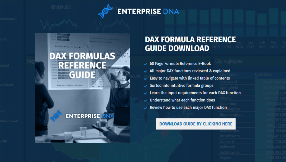 60 Page DAX Formula Reference Guide Download Now Available
