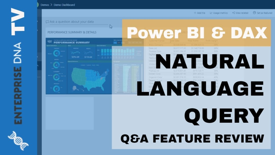 How To Use Q&A (Natural Language Query) In Power BI