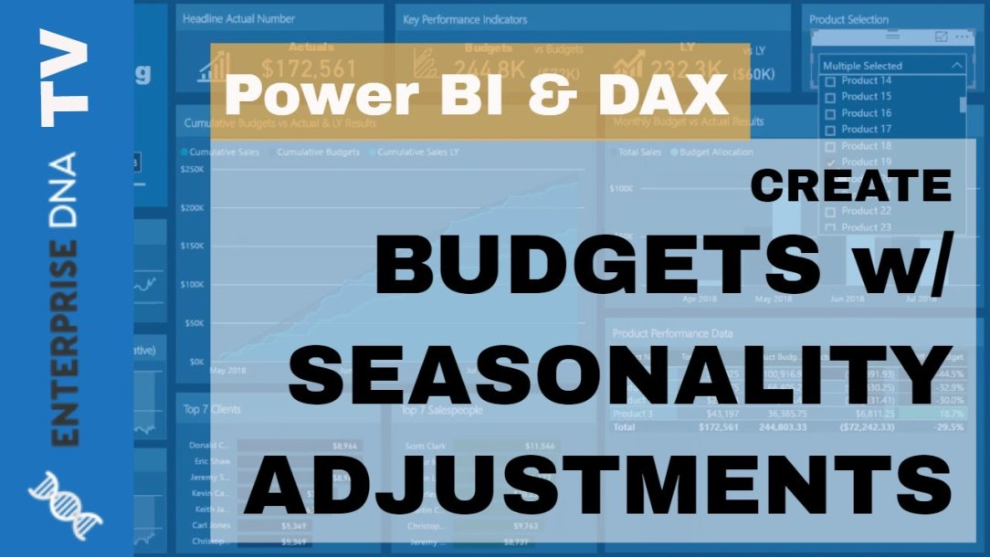 How To Create Budgets Which Have Seasonality Adjustments - Power BI Technique