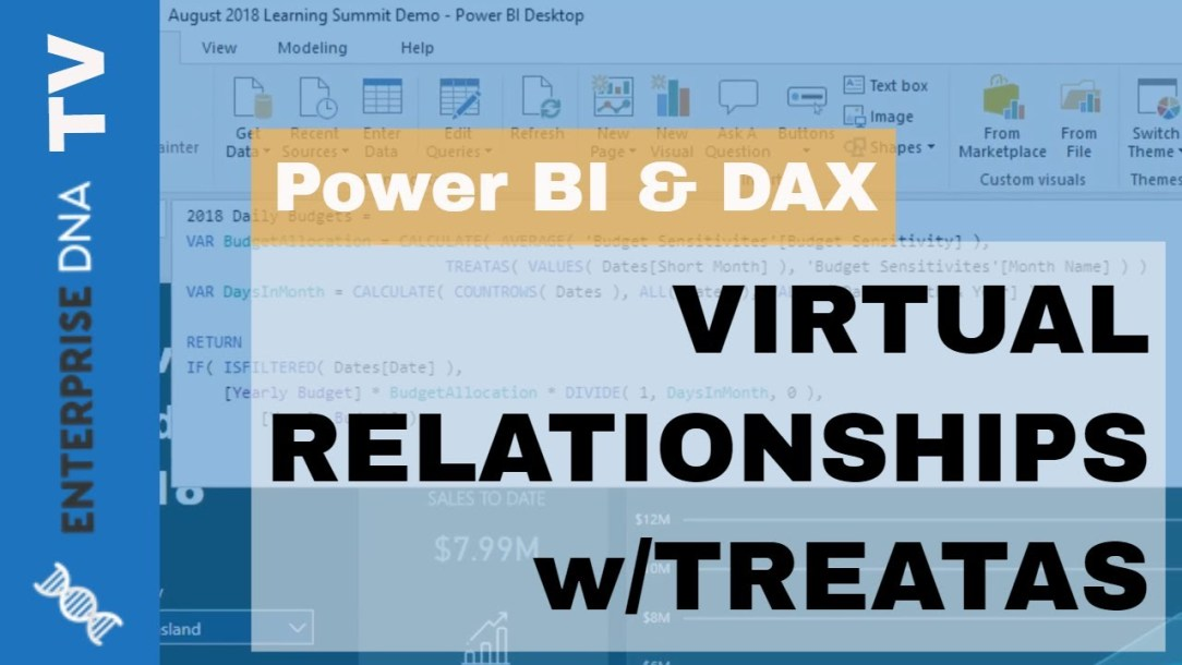 How To Create Virtual Relationships Using TREATAS In Power BI