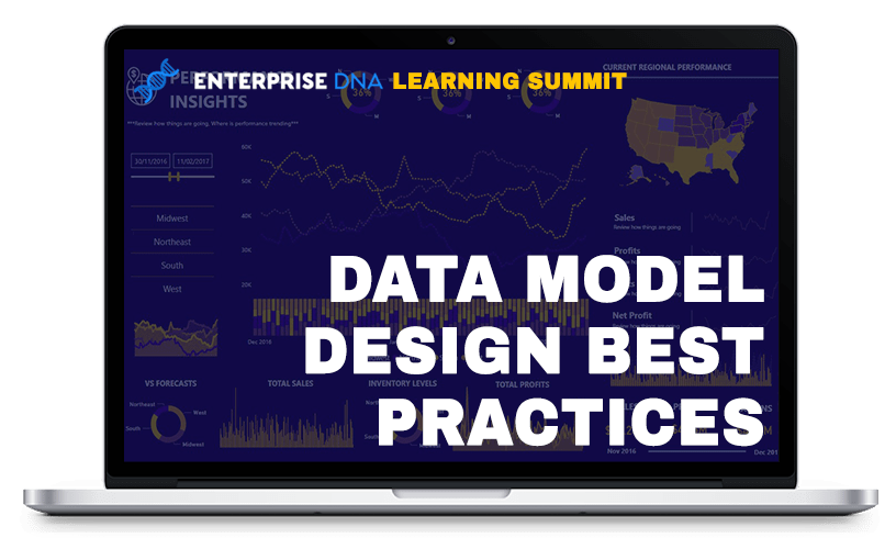 Enterprise DNA Learning Summit Data Model Design Best Practices Dashboard