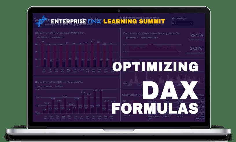 Enterprise DNA Learning Summit Optimizing DAX Formulas Dashboard