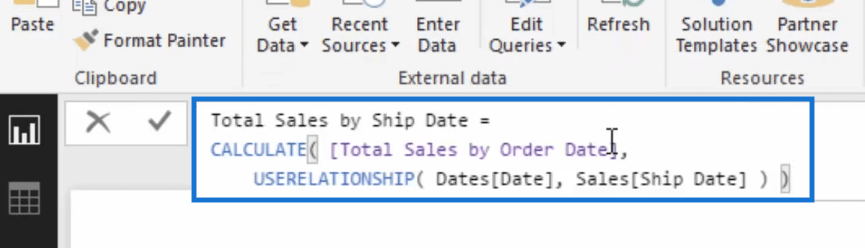 measure with userelationship