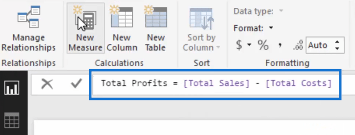 total profits measure