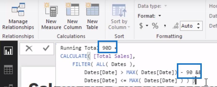 running totals in power bi