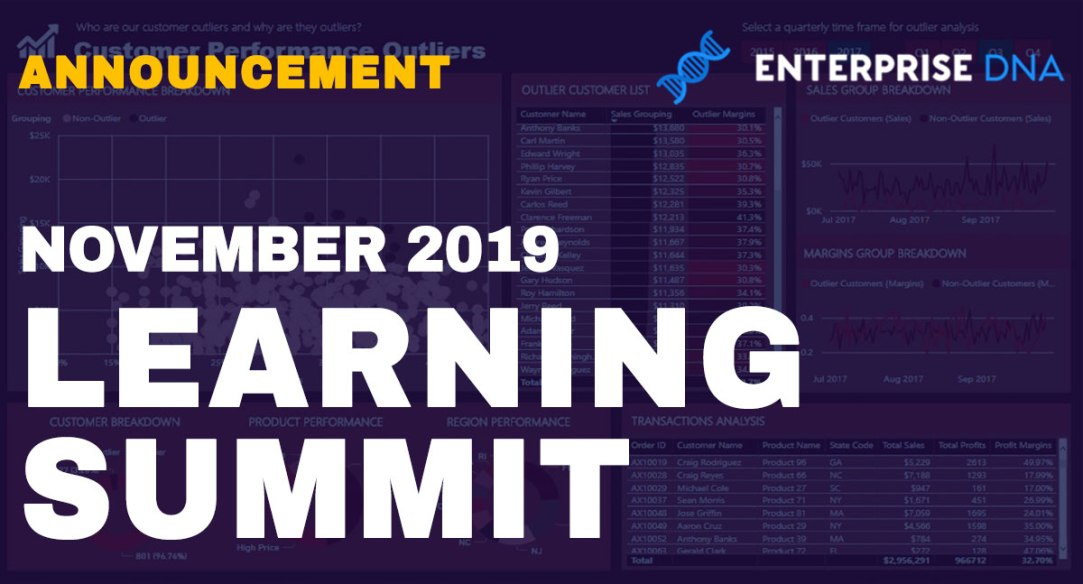 Enterprise DNA Free Learning Summit November 2019