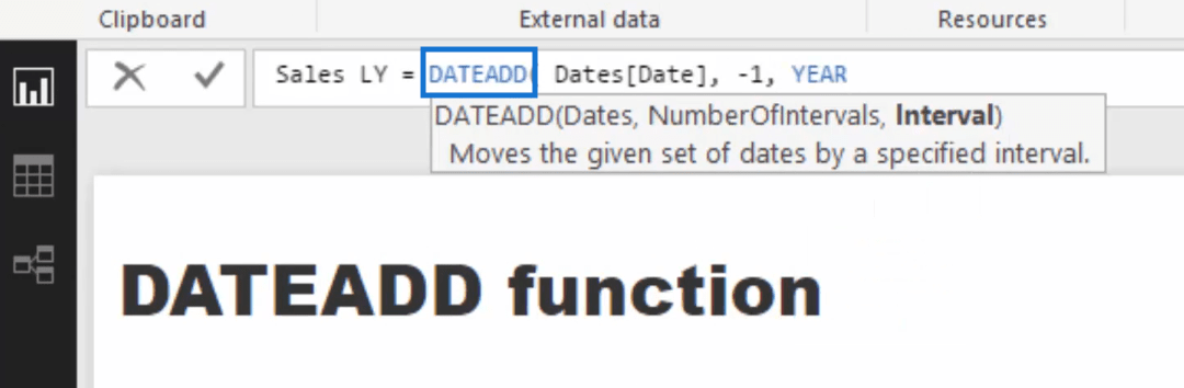 using dateadd function in a formula