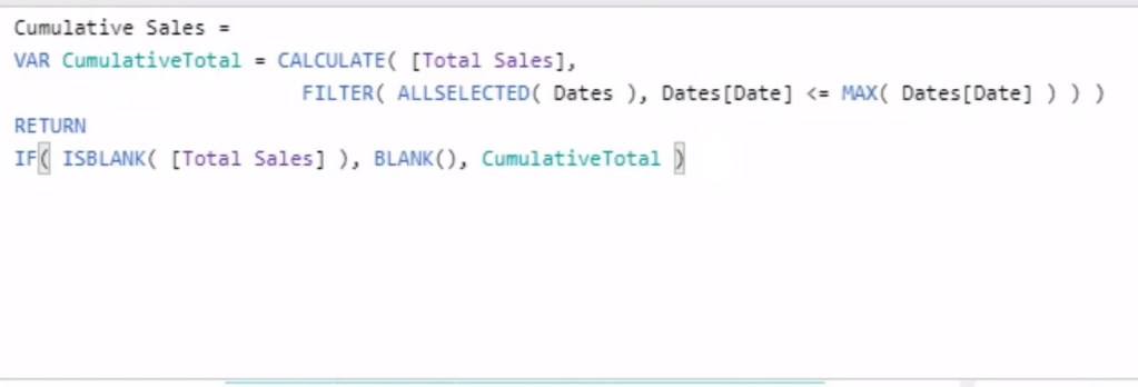 Cumulative Total pattern in Power BI