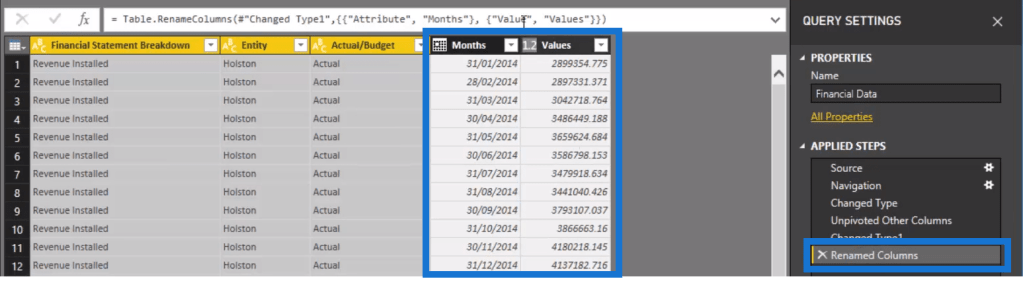 set up data in power bi