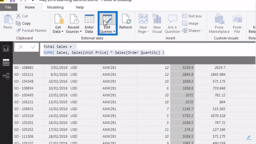 bringing in tables through the query editor