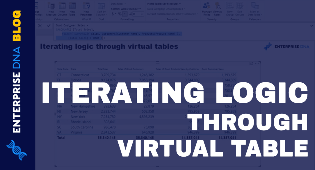 Virtual Tables Inside Iterating Functions In Power BI – DAX Concepts