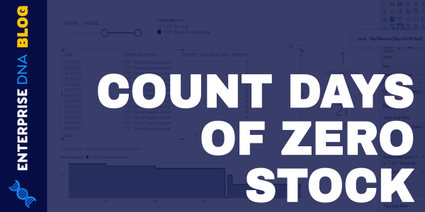 Calculate Days Of Zero Stock - Inventory Management Insights wPower BI