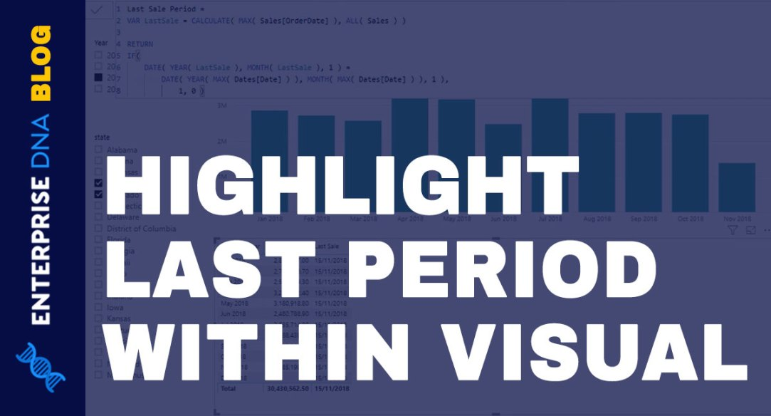 Highlight The Last Or Current Period In Your Power BI Visuals Using DAX