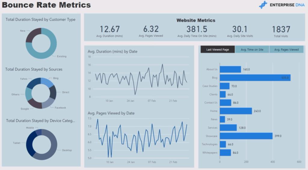 website analytics report