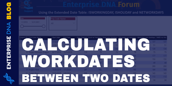 Calculating Workdays Between Two Dates in Power BI