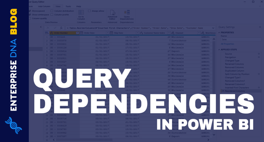 Query Dependencies In Power BI