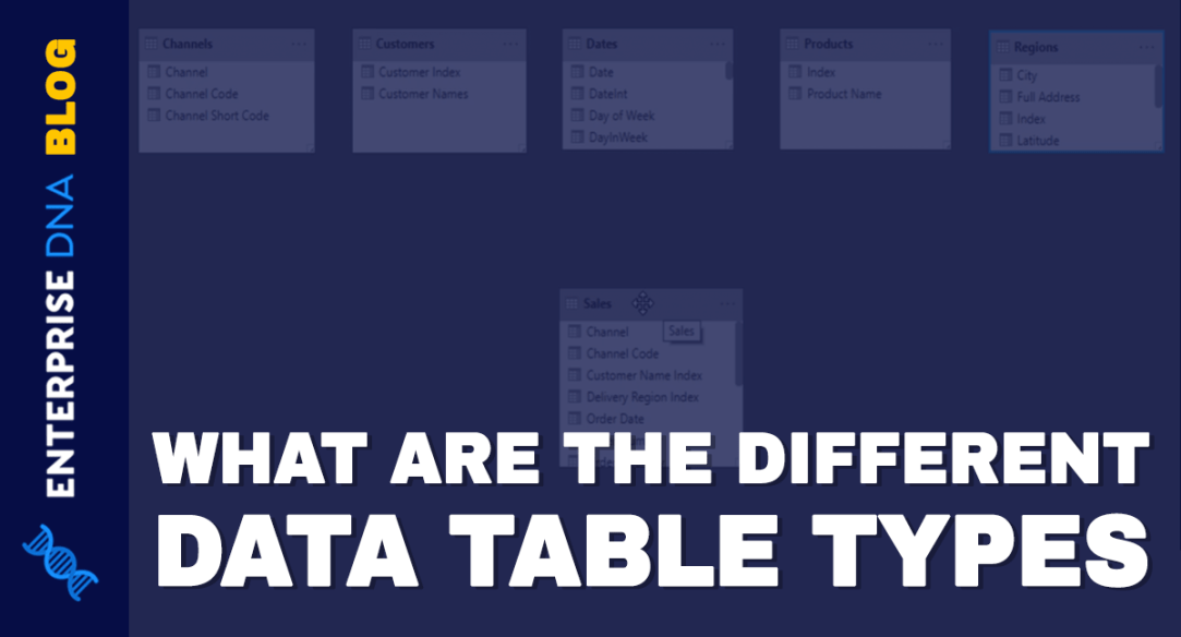 What Are The Different Data Table Types