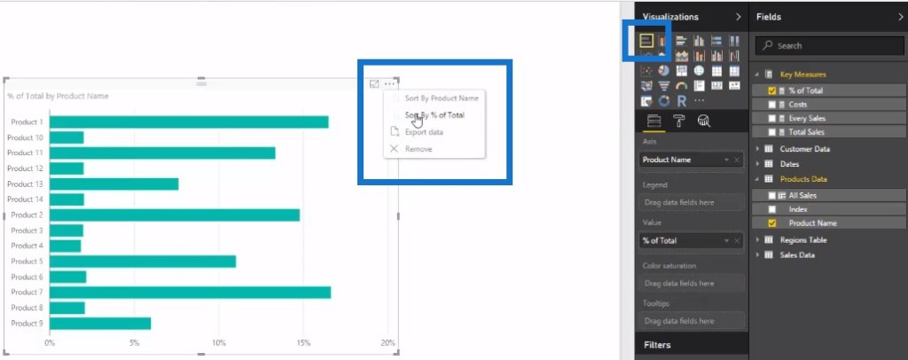 Creating stacked bar chart of the percent of total table