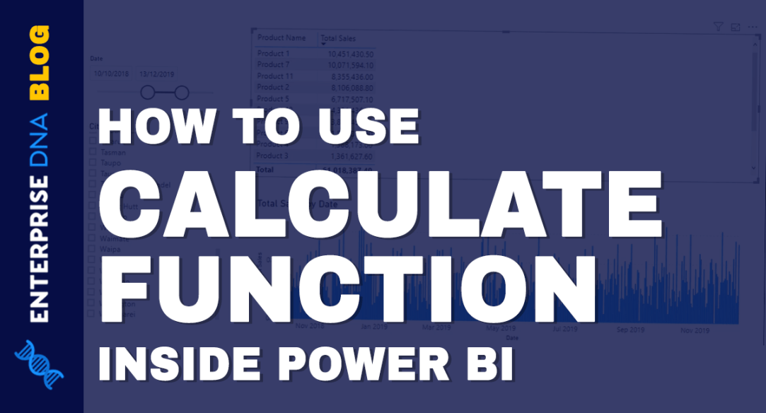 Using Calculate Function Inside Power BI
