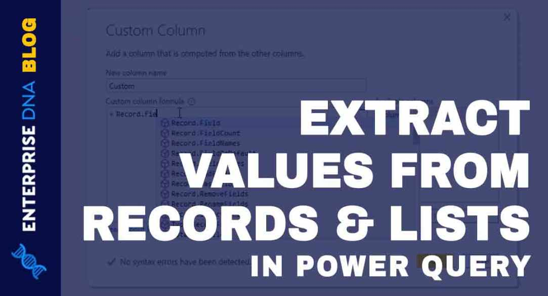 Extract Values From Records And Lists In Power Query