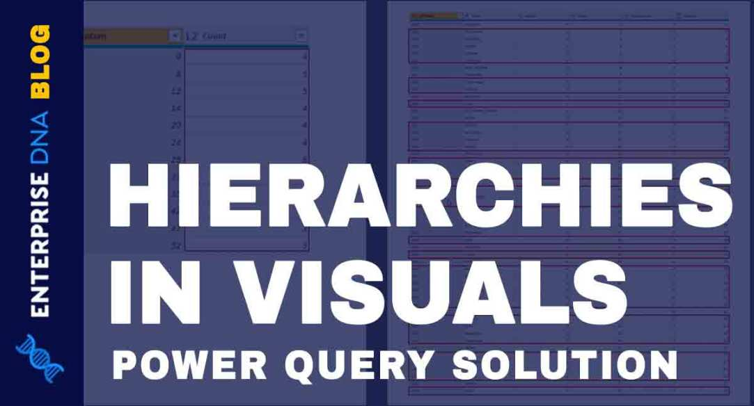 Hierarchies In Power BI Visualizations