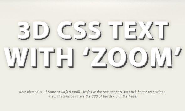 3D CSS Shadow Text Tutorial
