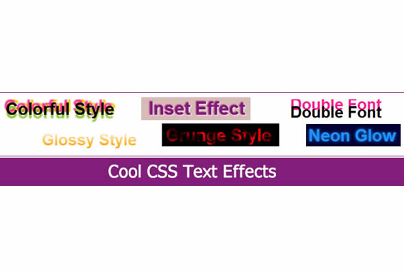 Cool CSS Text Effects