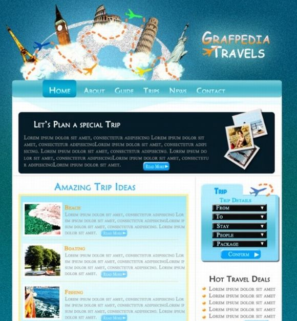 Design a cool Travel Agency layout
