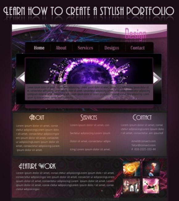 Design a stylish Portfolio Layout