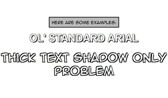 Adding Stroke to Web Text