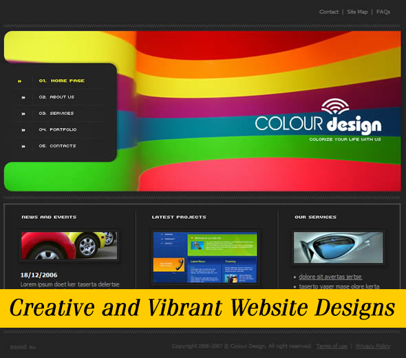 Showcase of Creative and Vibrant Website Designs