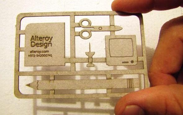 Alteroy Design's Die Cut Business Card