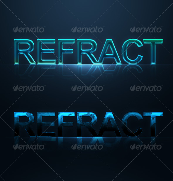 Beautiful Blue Text Effects