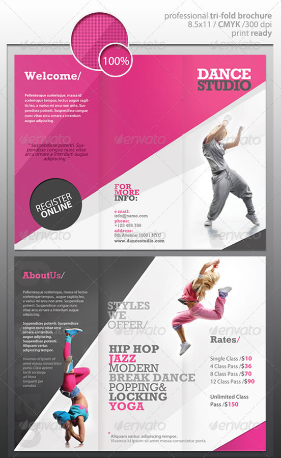 Creative Tri Fold Brochure Design Templates Website