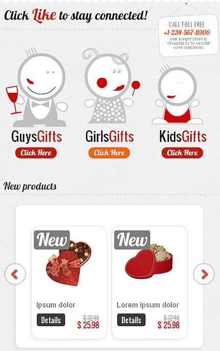 Gift Shop Facebook Template