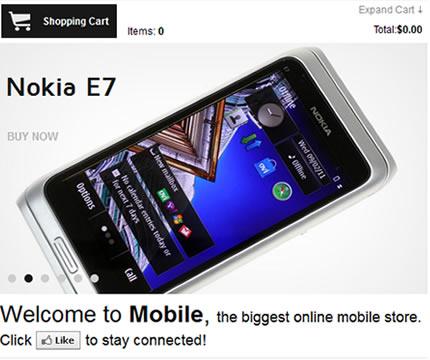 Mobile Shop Facebook Template