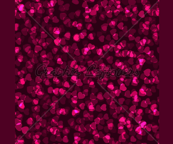 Seamless Heart Texture Swatch Ready. Eps 8