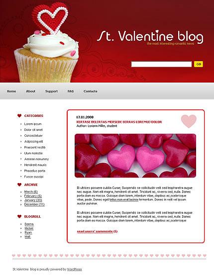 St. Valentine WordPress Theme