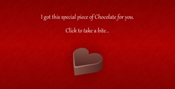 Valentines Day Message Chocolate
