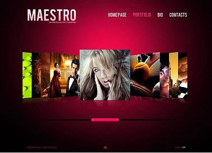 Maestro Photo Flash CMS Template