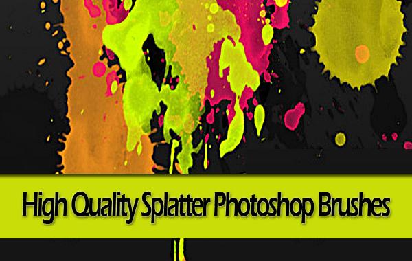 High Quality Splatter Photoshop Brushes