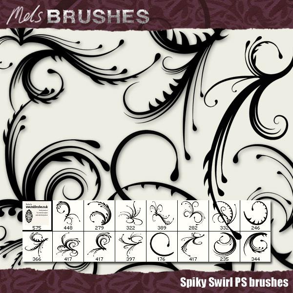 Spiky Swirls by ~melemel