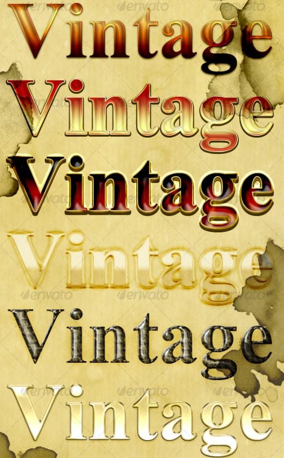 Vintage Text Styles 2
