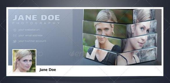 3D Cube Facebook Timeline Cover