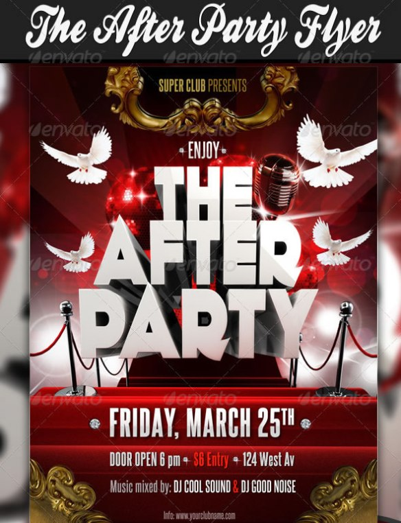 The After Party Flyer