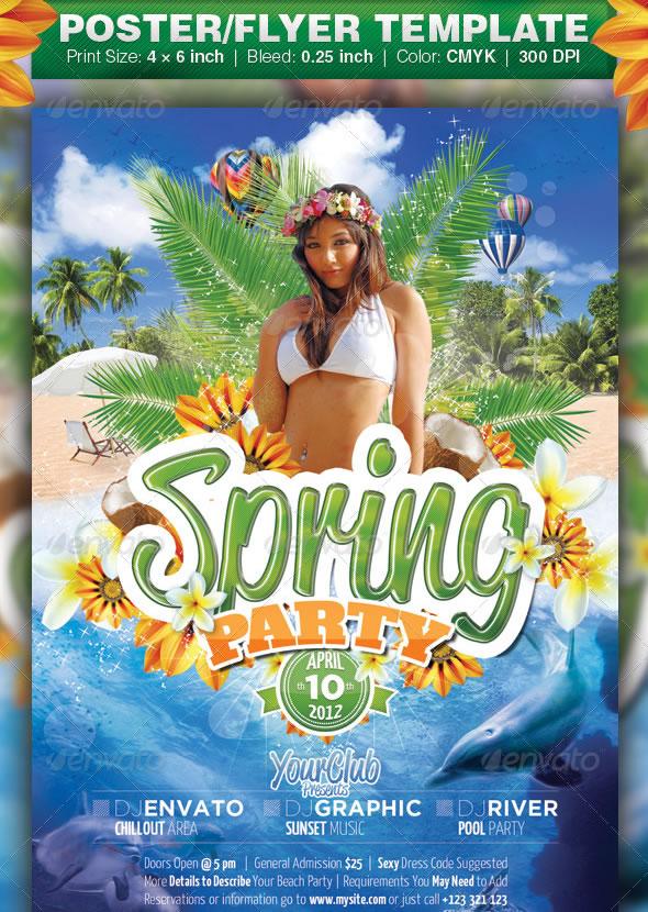 Cool Spring  Summer Break Party Flyers  EntheosWeb