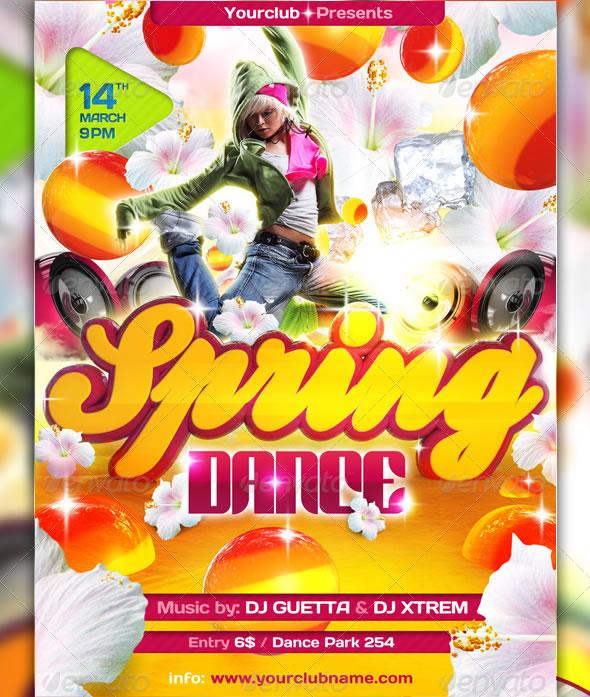 Cool Spring & Summer Break Party Flyers Entheos