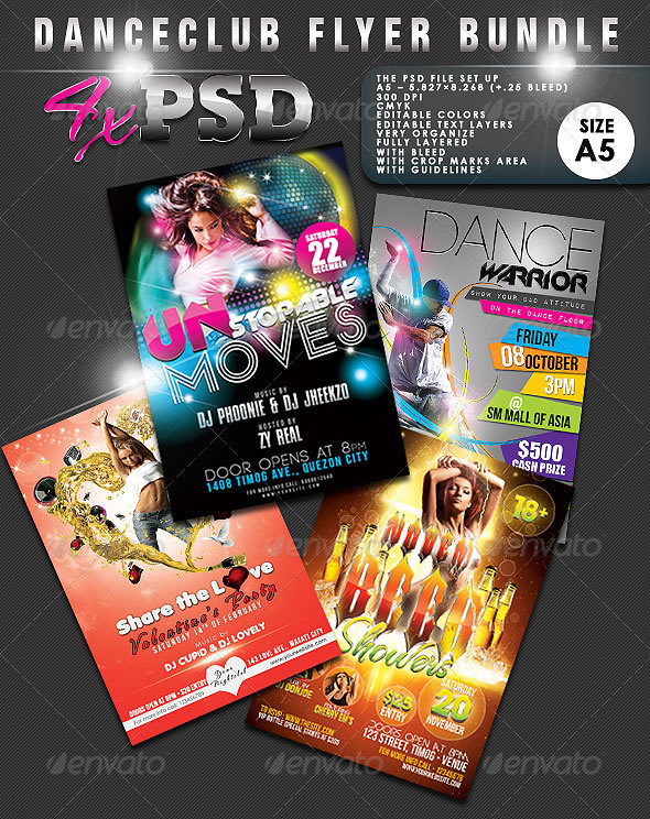 Dance Club Flyer Bundle #01