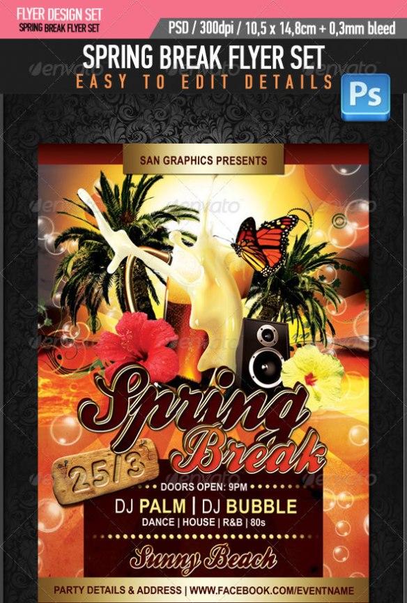 Spring Break Beer Flyer