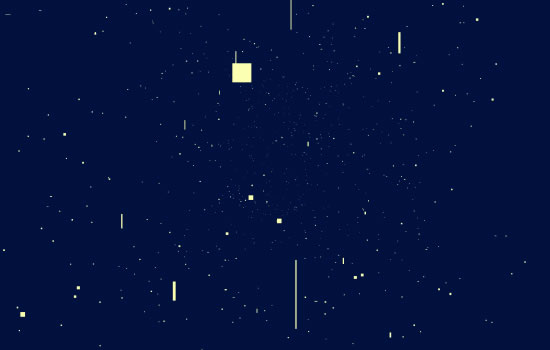Html5 Canvas Star Space Background animation:Turn - dark blue